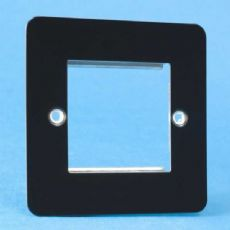 Varilight 2 Gang Datagrid Face Plate (For 2 Data Modules) Ultra Flat Iridium Black XFIG2